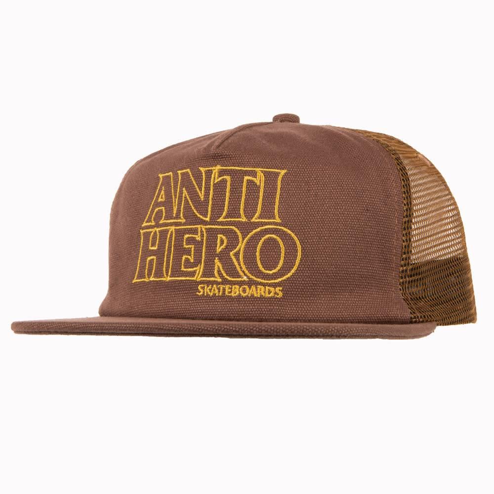 Anti Hero Blackhero Outline Brown Trucker