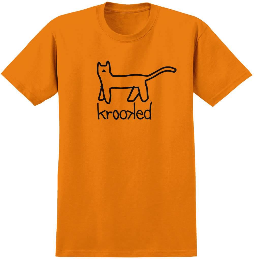 Krooked Big Kat Orange Tee
