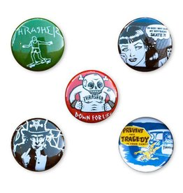 Thrasher Mag. Thrasher Usual Suspects Buttons Pack