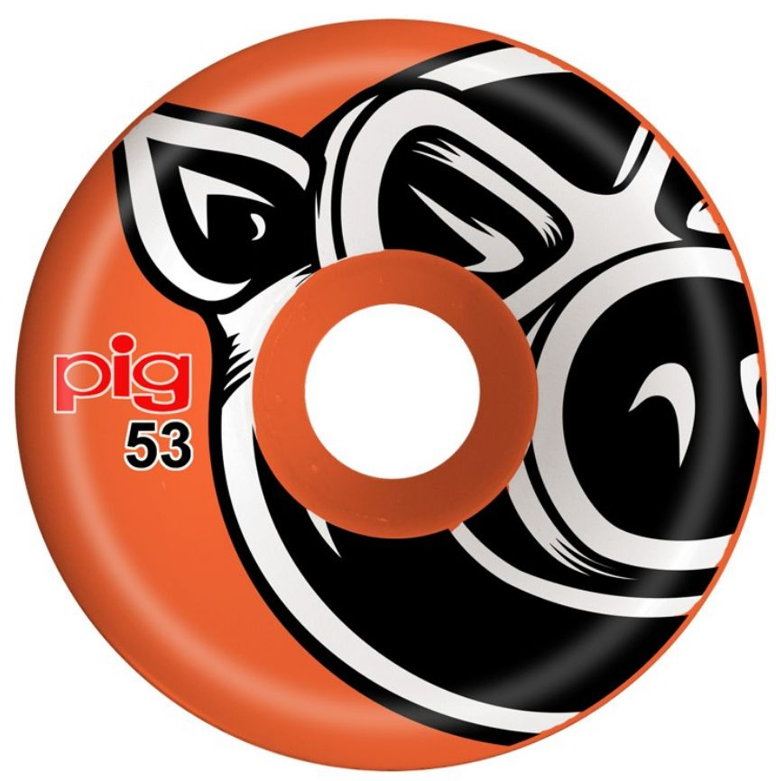 Pig Wheels Pig Head C-Line Orange 53mm