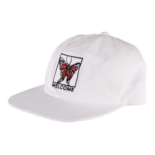 Welcome Skateboards Butterfly Unstructured Snapback White/Black