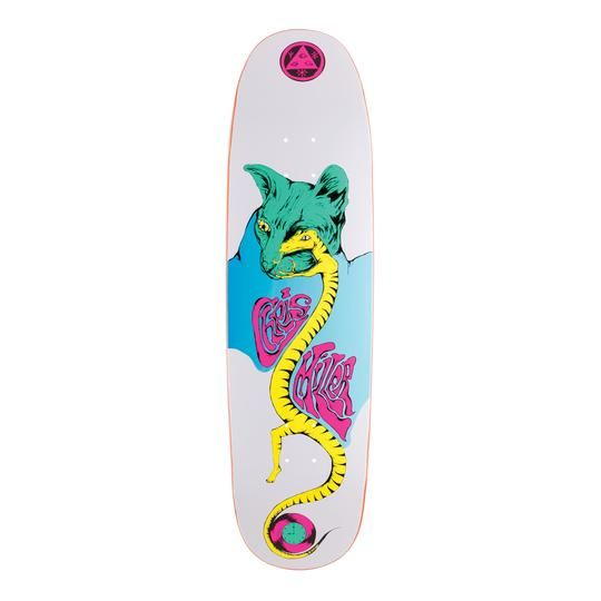 Welcome Skateboards Miller Lizard Eye on Catblood 2.0 White 8.75""