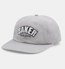 Baker Skateboards Arch Logo Grey Snapback