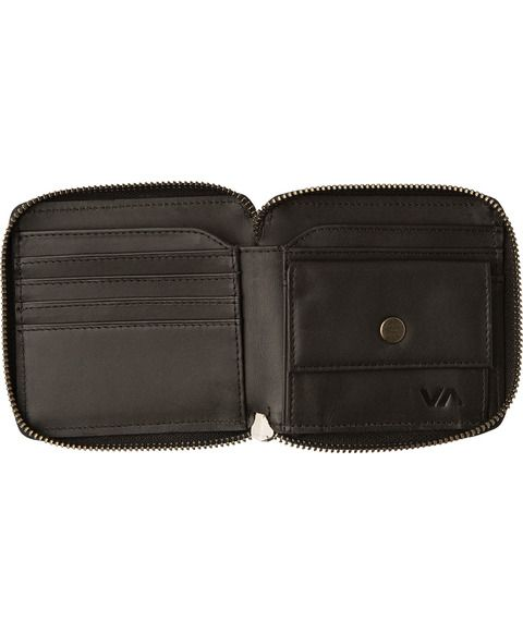 RVCA Zip Around Wallet Black