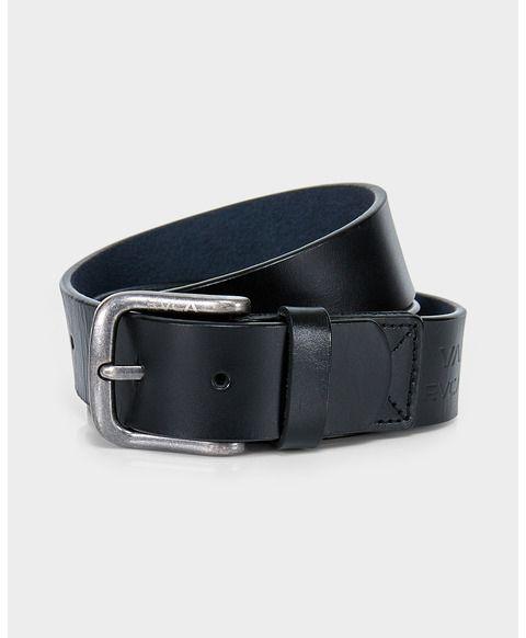 RVCA Truce Leather Belt Black L/M