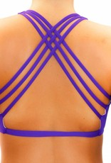 Pualani Yogini Surf Top Purple Solid