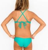 Pualani Mini Mermaid Sport Tie Sea Green Solid