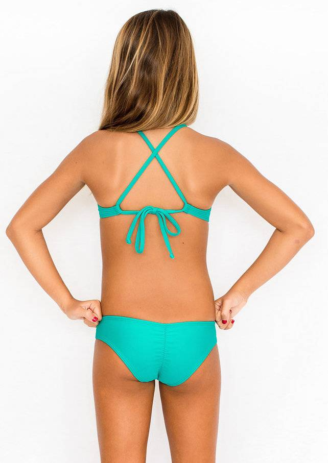 Pualani Mini Sport Tie Sea Green Solid