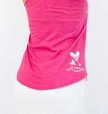 Pualani Mermaid T Back Tank Fuschia Solid