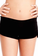 Pualani Mini Mermaid Drawstring Short Black Solid