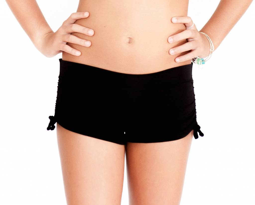 Pualani Mini Drawstring Short Black Solid