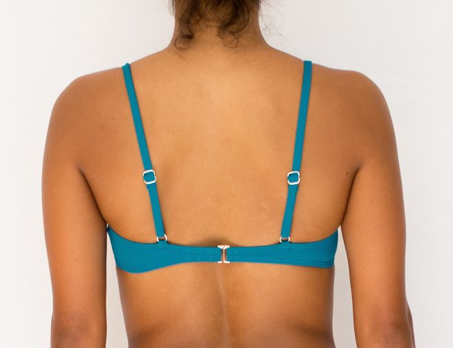 Pualani Bra Top Teal Solid