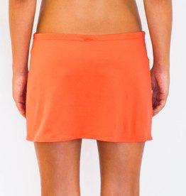 Pualani Short Drawstring Skirt Coral Solid