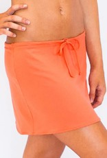 Pualani Short Drawstring Skirt Coral Solid