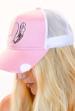 Pualani Snap Back Trucker Hat Pink