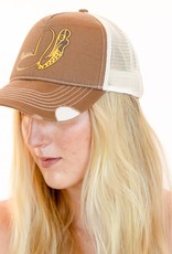 Pualani Snap Back Trucker Hat Brown