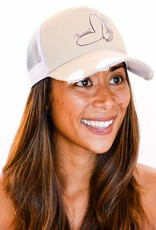 Pualani Snap Back Trucker Hat Ivory