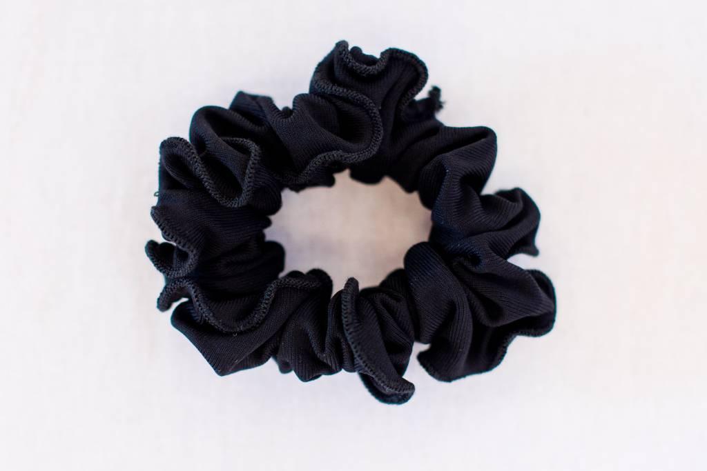 Pualani Scrunchie Black Solid