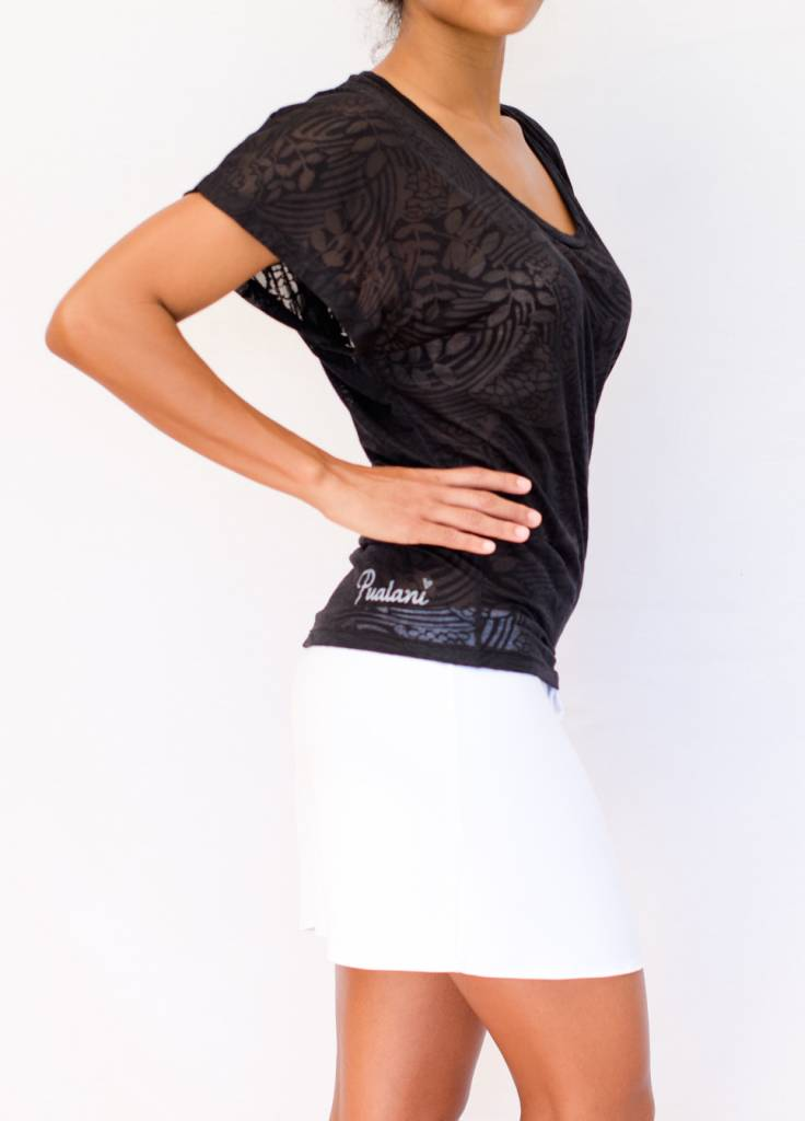Pualani Kimono Black Solid