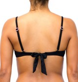 Pualani Underwire Removable Bow Black Solid