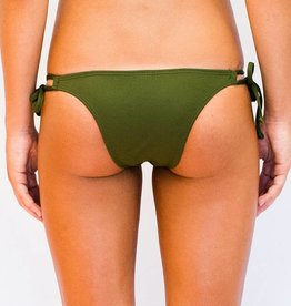 Pualani Skimpy Double Tie Olive Solid