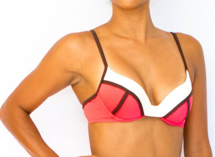 Pualani Demi Underwire Salmon Tri Color