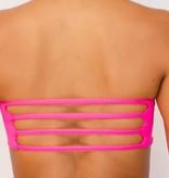 Pualani Reversible Bandeau Hot Pink Solid