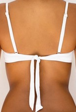 Pualani Underwire Removable Bow White Solid