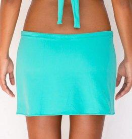 Pualani Drawstring Skirt Sea Green Solid