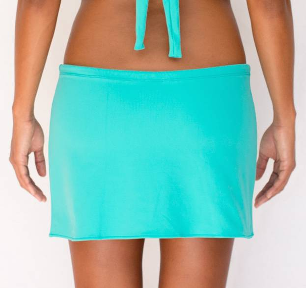 Pualani Drawstring Skirt Sea Green Solid
