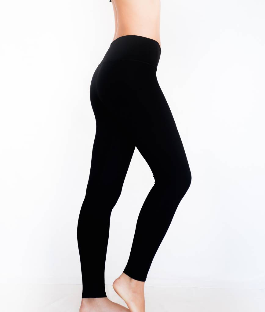 Pualani Yoga Leggings Black Solid