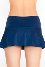 Pualani Skirt w/ Attached Bottom Navy Solid