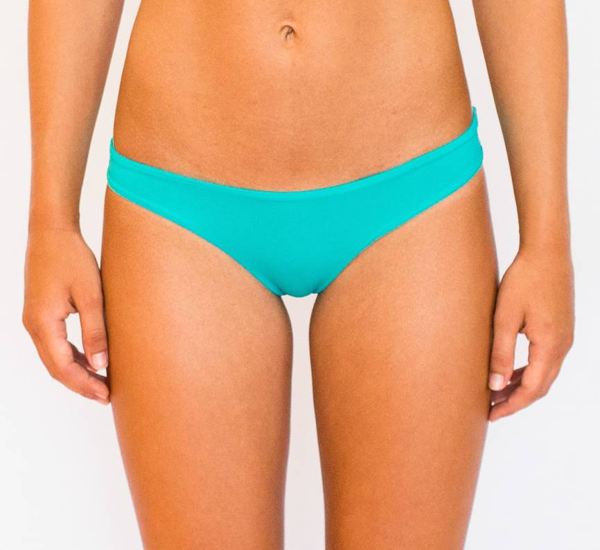 Pualani Reversible Thong Turquoise Solid