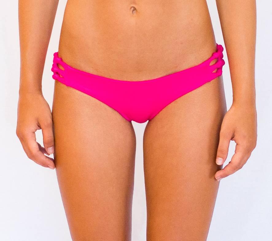 Pualani Reversible Skimpy Rio w/ Braids Hot Pink