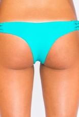 Pualani Reversible Skimpy Rio w/ Braids Turquoise Solid