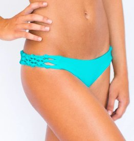 Pualani Reversible Skimpy Rio w/ Braids Turquoise Solid