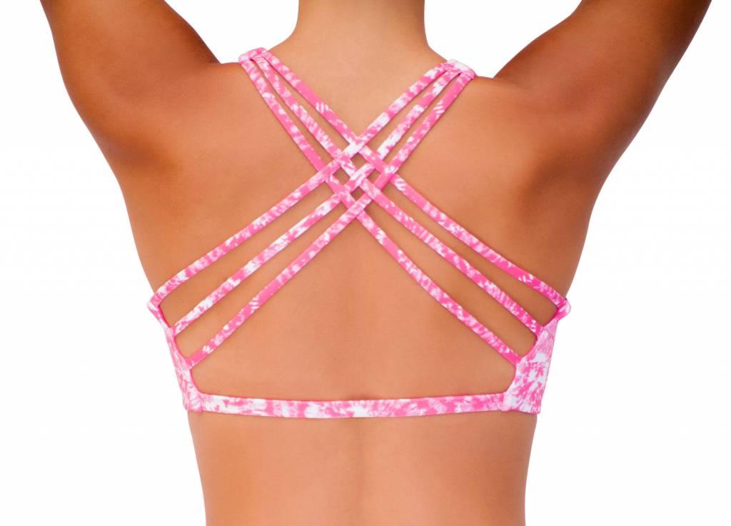 Pualani Reversible Yogini Surf Top Pink Tie Dye