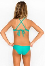 Pualani Mini Scrunch Sea Green Solid
