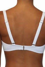 Pualani Soft Cup Bandeau White Solid