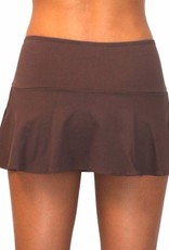 Pualani Skirt w/ Attached Bottom Chocolate Solid