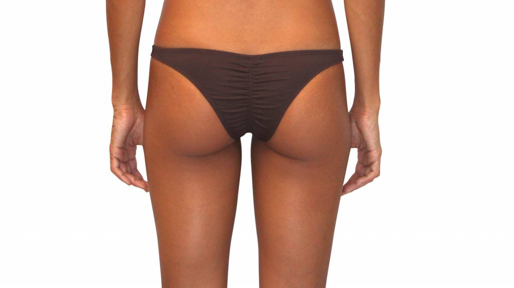Pualani Skimpy Scrunch Rio Chocolate Solid