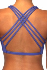 Pualani Reversible Yogini Surf Top Blue Violet Solid