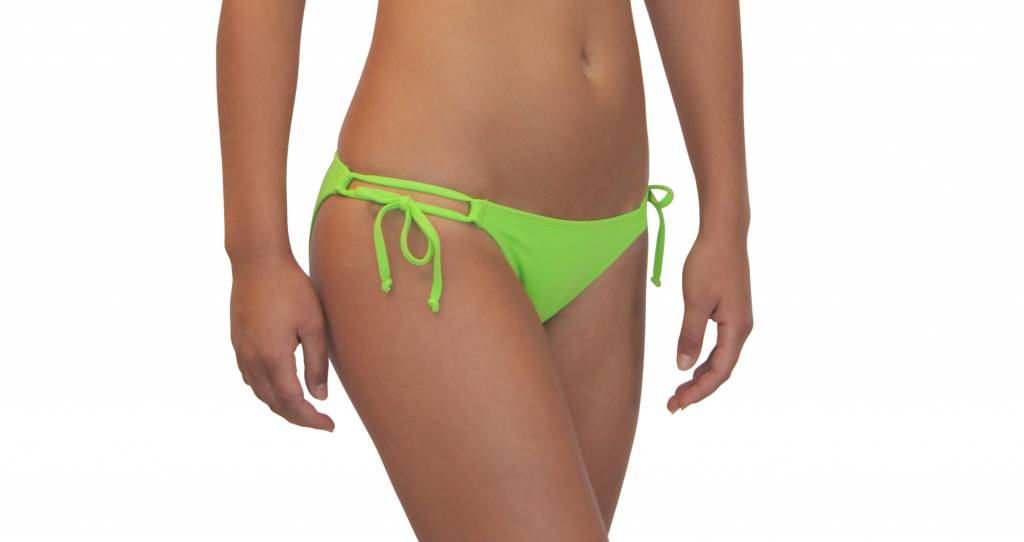 Pualani Double Tie Side Lime Green Solid