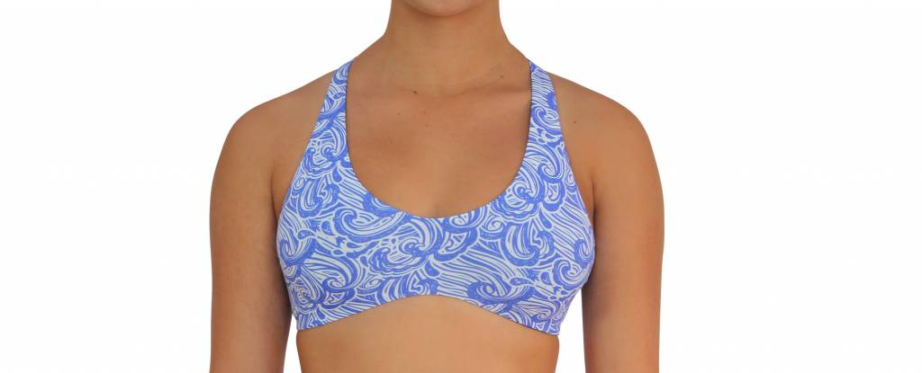 Pualani Reversible Fitness Surf Top Waves