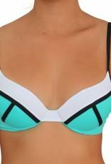 Pualani Demi Underwire Sea Green Tri Color
