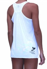 Pualani Mermaid T Back Tank White Solid