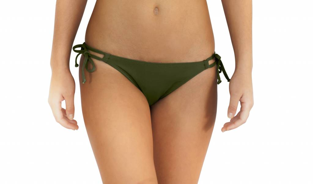 Pualani Double Tie Side Olive Solid
