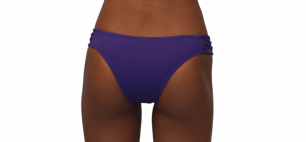 Pualani Skimpy Love with Braided Sides Purple Solid