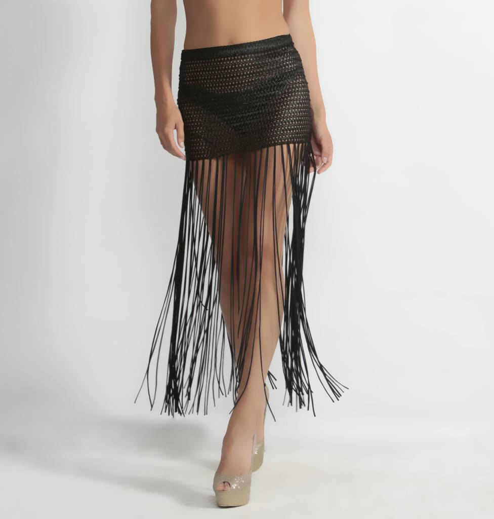 Shimmy Skirt Black Solid