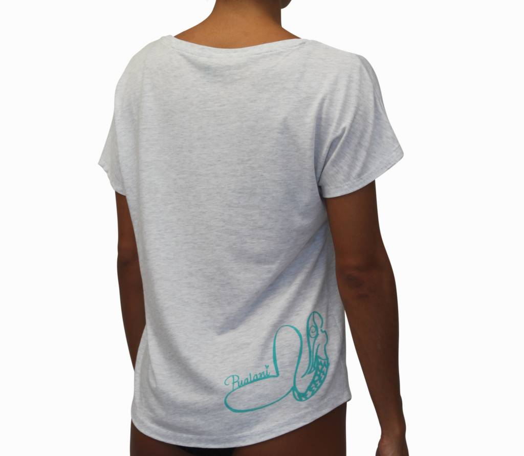 T-Shirt Mermaid White w/ Sea Green